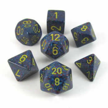 SET 7 DADOS MOTEADOS CHESSEX TWILIGHT CHX25366