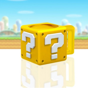 TAZA QUESTION BLOCK. SUPER MARIO
