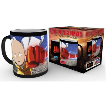 TAZA SENSITIVA AL CALOR PUÑO SAITAMA. ONE PUNCH-MAN